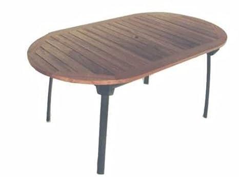 Tavoli Da Giardino Legno E Alluminio.Tavolo Da Giardino In Legno Balau E Alluminio Amazon It Casa E Cucina