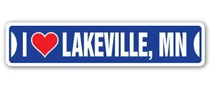 Chili Print I LOVE LAKEVILLE, MINNESOTA Custom Street Signs - Sticker Graphic Personalized Custom Sticker - Lakeville Girl