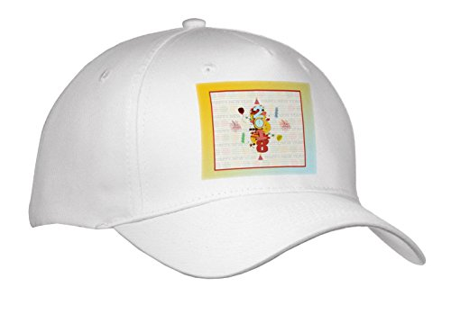 3dRose Beverly Turner New Years Design - 2018, Fireworks, Clock, Hats, Balloons, dollies, New Year, Yellow - Caps - Adult Baseball Cap - Dolly Visor