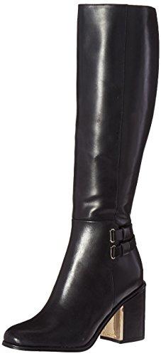 Calvin Klein Women's camie Engineer Boot, Black Leather, 8 M US by Calvin Klein