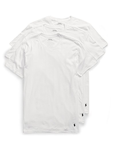 Classic Crew Neck T-Shirts 3-Pack, White, M Polo Neck T-shirts