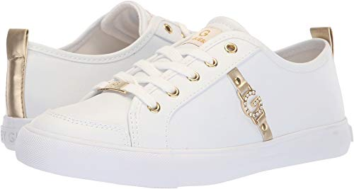 G By Guess Women's Banx2 White/Gold/Gold 9.5 M US ()