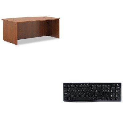 KITBSXBL2111A1A1LOG920003051 - Value Kit - Basyx BL Laminate Series Bow Front Desk Shell (BSXBL2111A1A1) and LOGITECH, INC. K270 Wireless Keyboard (LOG920003051)