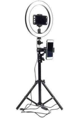 KITRO PLUS 10 Inches Big LED Ring Light with 7.5 Feet Tripod Stand for Camera Smartphone YouTube Video Shooting and Makeup, Stand and Light