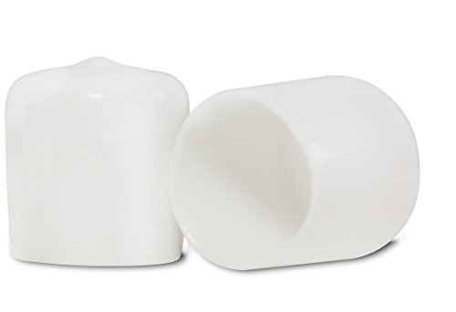 8 pack: 1 1/4 Inch White Round Vinyl Flexible End Cap, Pipe Post Tubing Rod Coverc Tip 1.25