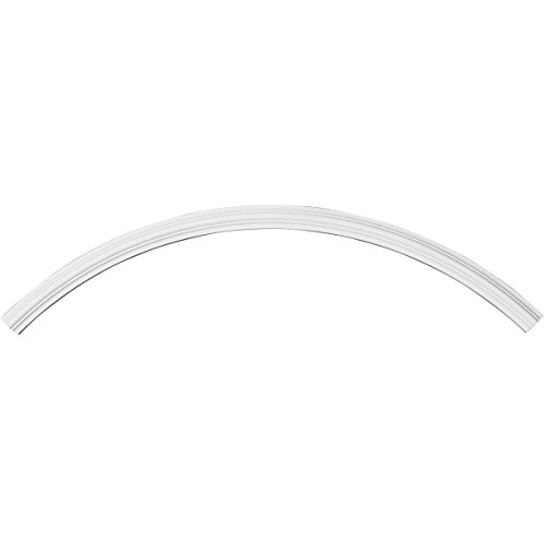 (Ekena Millwork CR50TR Traditional Ceiling Ring (1/4 of Complete Circle) White)