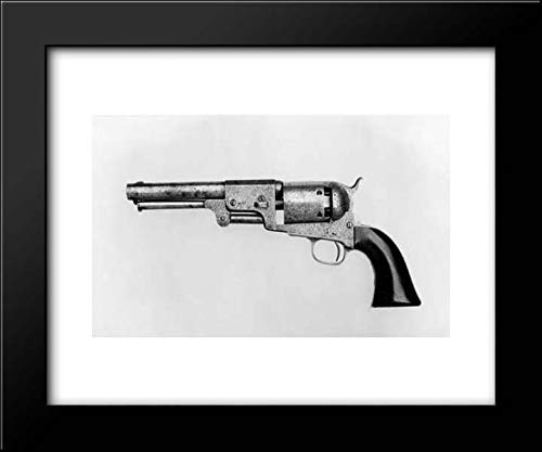 Samuel Colt - 18x15 Framed Museum Art Print- Colt Dragoon Percussion Revolver, Third Model, Serial no. 13096