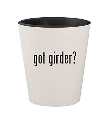 - got girder? - Ceramic White Outer & Black Inner 1.5oz Shot Glass