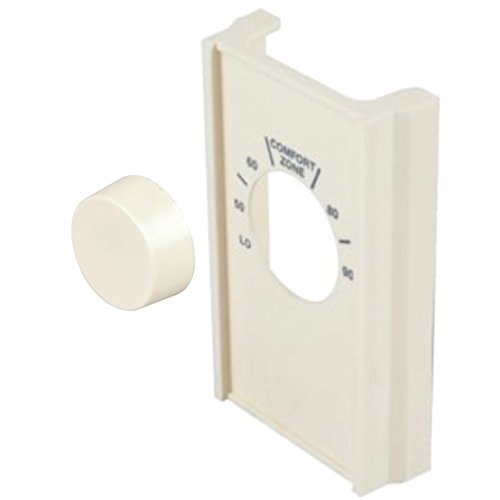 HEDY4LESS Ivory Single Pole Line Volt Thermostat Cover w/Line Volt Thermostat Knob Set HDS