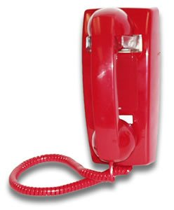 Hot Line Wall Phone - Red - Telephone Line Hot