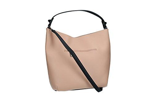 Borsa donna a spalla con tracolla PIERRE CARDIN rosa con apertura zip VN1895