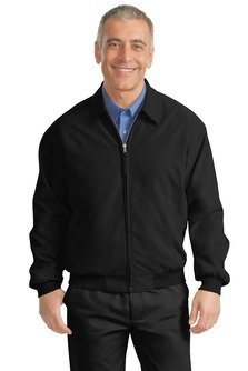 Port Authority - Casual Microfiber Jacket. J730 - XXX-Large - Black / Solid Pewter Lining