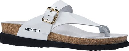 Leather Helen Thong Mephisto Patent Sandal Women's White 1H5Bq0Yw