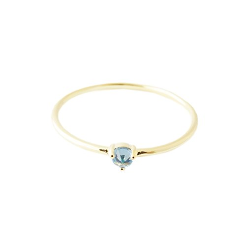HONEYCAT Blue Aquamarine Crystal Point in 24k Gold Plate | Minimalist, Delicate Jewelry (Gold, ()