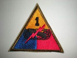 US Army 1ST Armored Division Patch - Original WWII ERA by HighQ Store - Patches Army Wwii