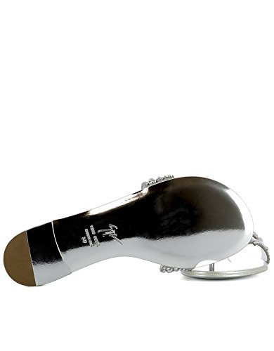 E70026002 Cuero Sandalias Design Plata Giuseppe Mujer Zanotti qpFTHg6t