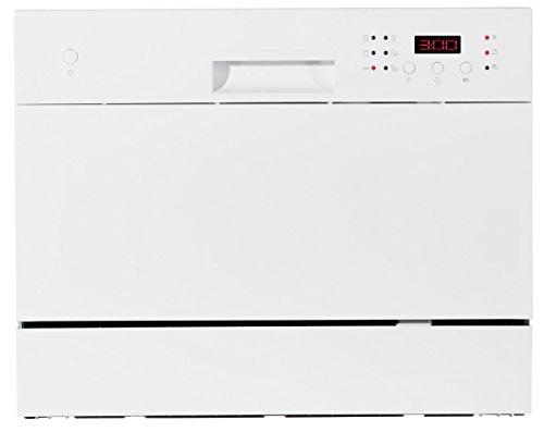 MEDION (MD 16698) Tischgeschirrspüler, 6 Reinigungsprogramme, Wasserverbrauch ca. 6,5l, EEK A, Reinigungsklasse A, Trocknungseffizenz A, ca. 51dB, weiß