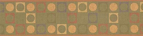 WK2201BD Abstract Circles Wallpaper Border 6