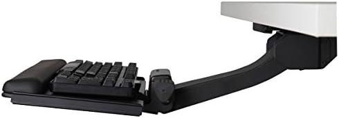 Humanscale 6G 500 Big Platform Ergonomic 27in Keyboard Tray and Gel Palm Rest in Black