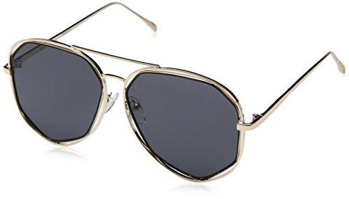 A.J. Morgan Diamond Bar Aviator Sunglasses, Gold, 56 mm