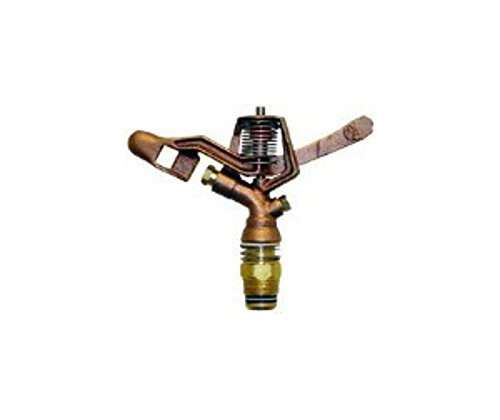QVS 139525 Full Circle Brass Impact Sprinkler, 3/4-Inch, Gold