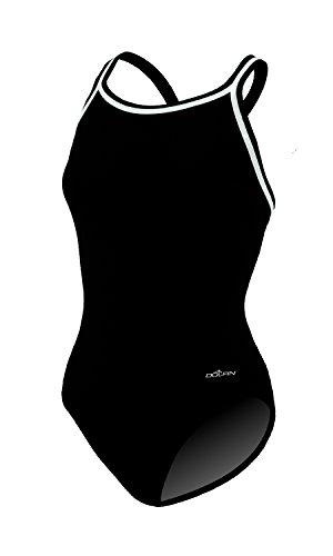 Dolfin CHLOROBAN SOLID DBX BACK GIRLS 22-28 BLACK SIZE 24