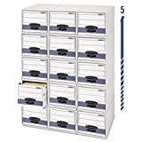 -- Stor/Drawer Steel Plus Storage Box, Letter, White/Blue, 6/Carton