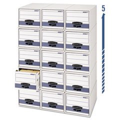 ** Stor/Drawer Steel Plus Storage Box, Letter, White/Blue, 6/Carton **