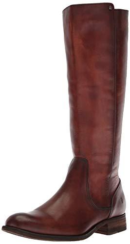(FRYE Women's Melissa Stud Back Zip Knee High Boot Cognac 9.5 M US)