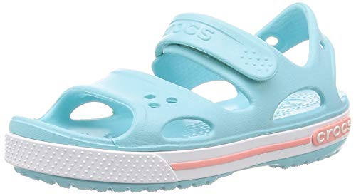 Crocs Boys and Girls Crocband II Sandal | Pre School Water Shoe, Ice Blue, 12 M US Little Kid