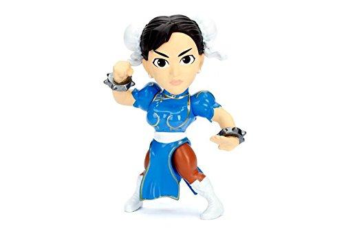 """Jada Toys 98064 Metals Street Fighter 4"""" Classic Figure - Chun Li (M308), 4"""", Blue"""