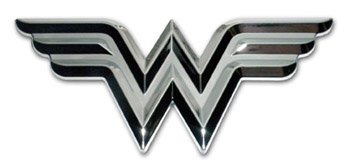 Wonder Woman (3D) Chrome Auto Emblem (Women Accessories Car Wonder)