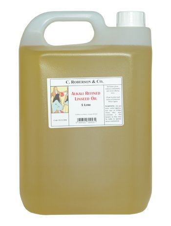 Robersons : 5 Litre Alkali Refined Linseed Oil