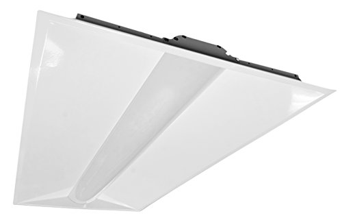 NICOR Lighting 2x4 Foot Architectural 4650-Lumen 4000K LED Troffer (T3A-24-S-MV-40)
