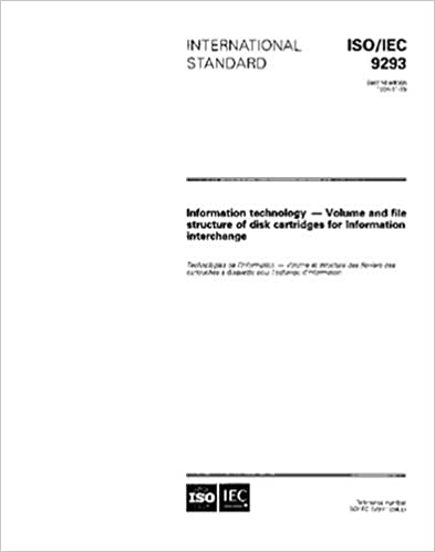 Book ISO/IEC 9293:1994, Information technology - Volume and file structure of disk cartridges for information interchange