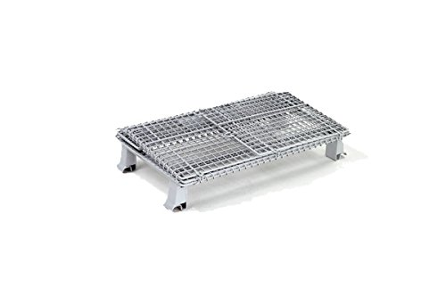"Nexel Folding Wire Container, 30""L x 20""W x 21""H, 1000 lb..."