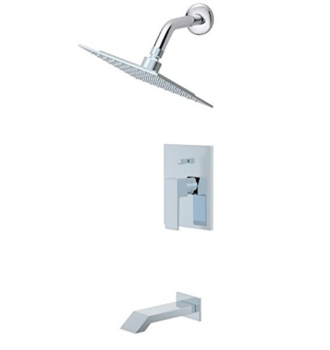 Ultra Faucets UF70300 Icon Collection - Single Handle Tub and Shower Trim, Chrome Finish