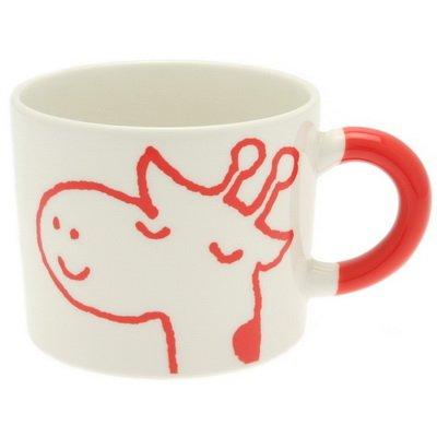 Kotobuki Zodiac Series Crayon Mug: Giraffe,Red