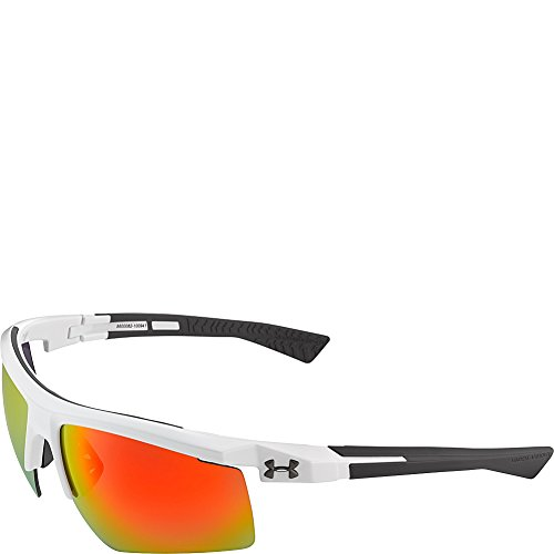 Under Armour Eyewear Core 2.0 Sunglasses (Shiny White-Gray Temples/Gray - Armour Ua Sunglasses Core Under