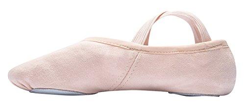 1006 Ballet Gymnastics Training Sports Indoor Dance Slippers Canvas Split sole colours light pink and black Pink bN8h9av9tv