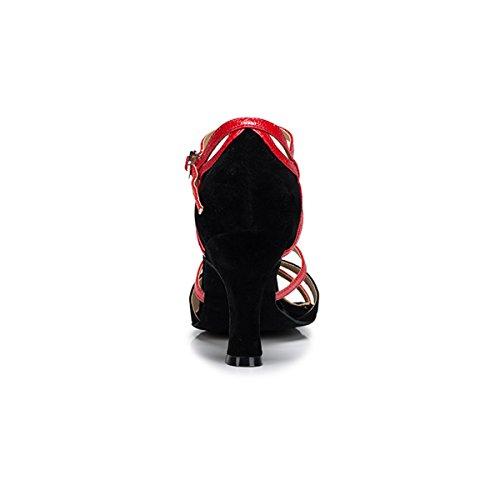 Heel Miyoopark 8cm Mujer Black Salón red fZqZrXw