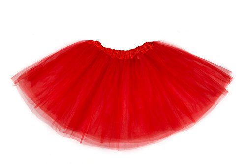belababy Women Skirt 3 Layers Tulle Tutu Dress Up Skirt (Womens Red Tutu Skirt)