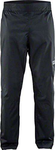 Craft Sportswear Men's Ride Rain Commuter Bike Cycling Windproof and Waterproof Reflective Pants, Black, Medium]()