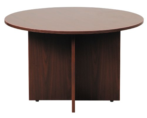 Boss Office Products 47 in Round Table in Cherry