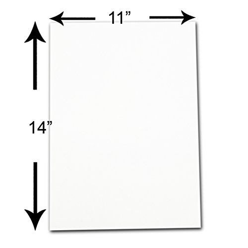 The Display Guys, Pack of 10, 11x14 inches Picture Mat Matte Backing Boards for Framing, White Core