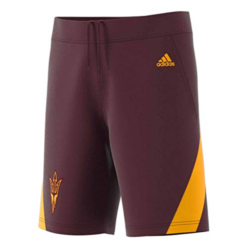 adidas Arizona State Sun Devils Adult NCAA Replica Basketball Shorts - Maroon, Medium