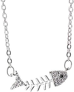 Toporchid 유 니 섹스 물고기 뼈 목걸이 우아한 쇄 골 체인 목걸이 쥬얼리 / Toporchid UniFish Bone Necklace Chic Clavicle Chain Necklace Jewelry