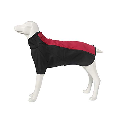 Dr.NONO Dog Jacket Thick Warm Winter Coat Large Dog Clothes Outdoor Waterproof Dog Vest with Leash Hold for Medium and Large Dogs