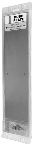Don-Jo PS 13515 Display Packaged Push Plate, Satin Stainless Steel Finish, 3-1/2'' Width x 15'' Height (Pack of 10) by Don-Jo