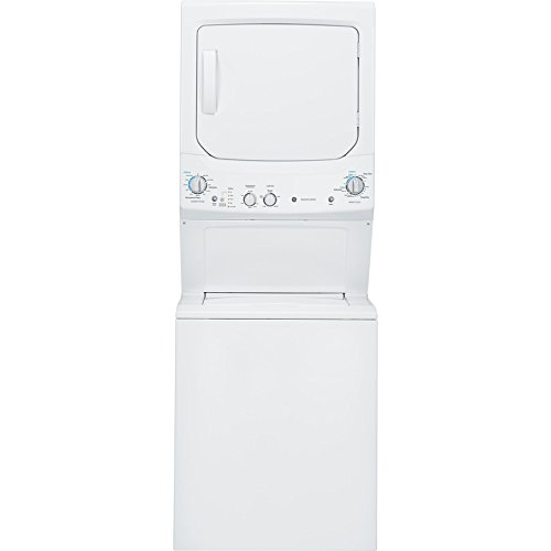 "GE GUD27ESSJWW 27"" Unitized Spacemaker  Washer and Stirring Dryer in White"